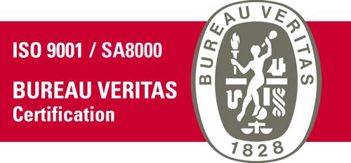 Bureau Veritas ISO 9001 / SA8000